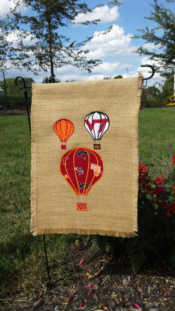 Go Hokies A Virginia Tech Garden Flag To By HappyLittleStitches1