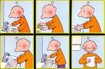 Afbeeldingsresultaat voor handen wassen met jules