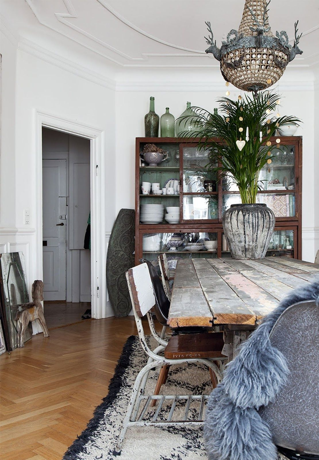 House rustic bohemian interior wall art