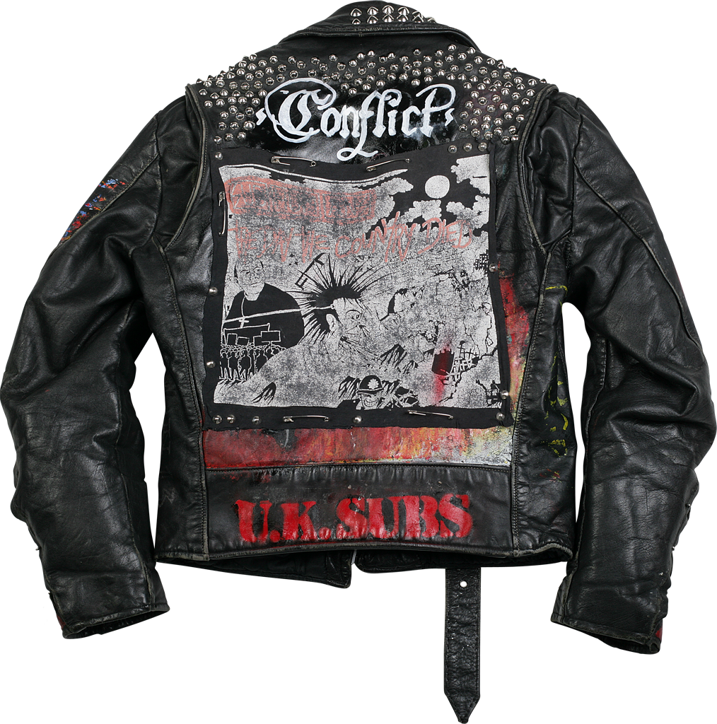Leather jacket punk - Hand Painted Crass Leather Jacket