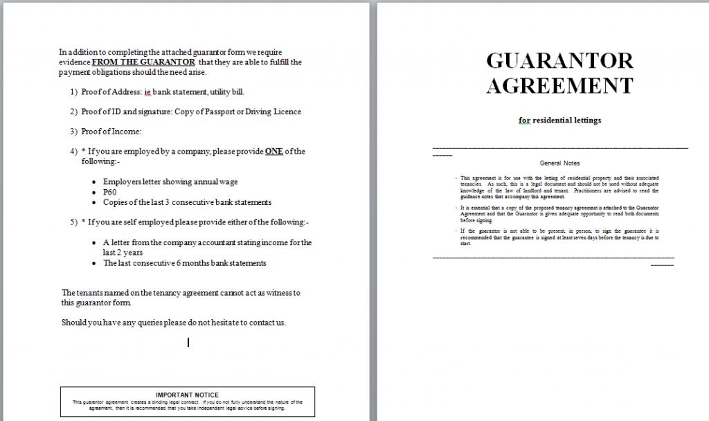 Guarantor Agreement Template Guarantor Liabilty Not Straight Forward Landlordzone Forums Ideas In Words Agreement Language