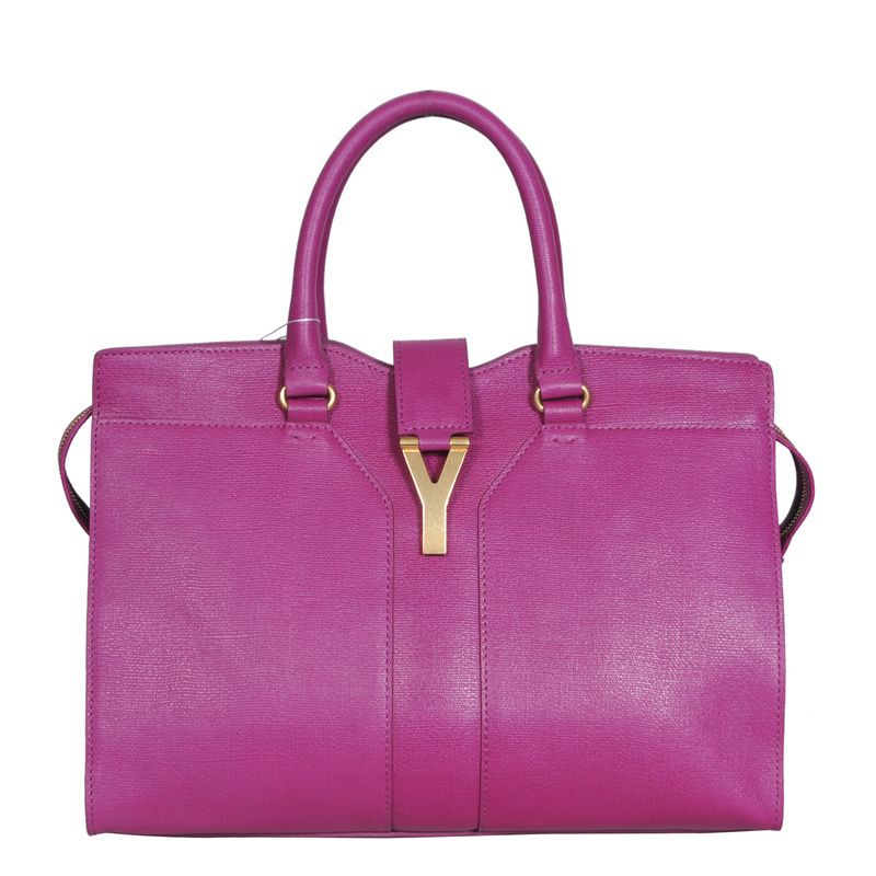 8a8233642555c Excellent Quality !!YSL Cabas Chyc Bag Large Purple  249