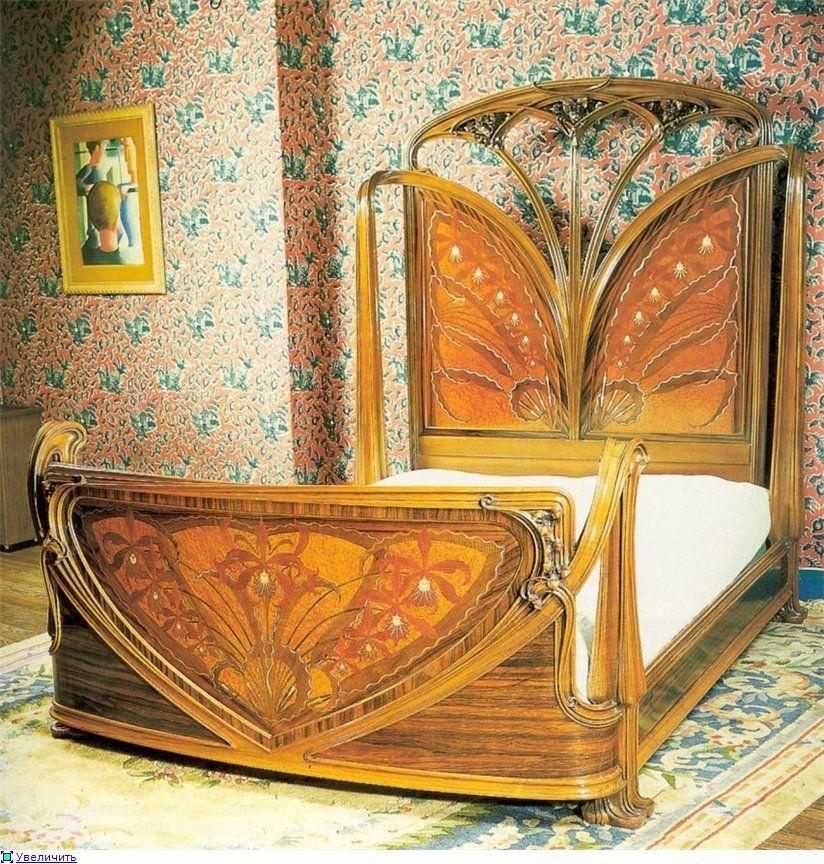 art nouveau bed furniture accessories pinterest jugendstil jugendstil m bel und bett. Black Bedroom Furniture Sets. Home Design Ideas
