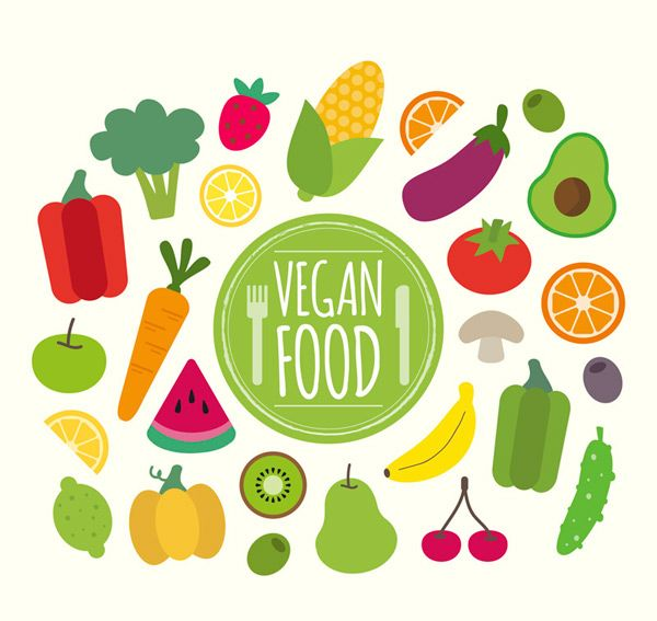 Healthy Vegetarian Food Vector Ai For Free Download Vegan