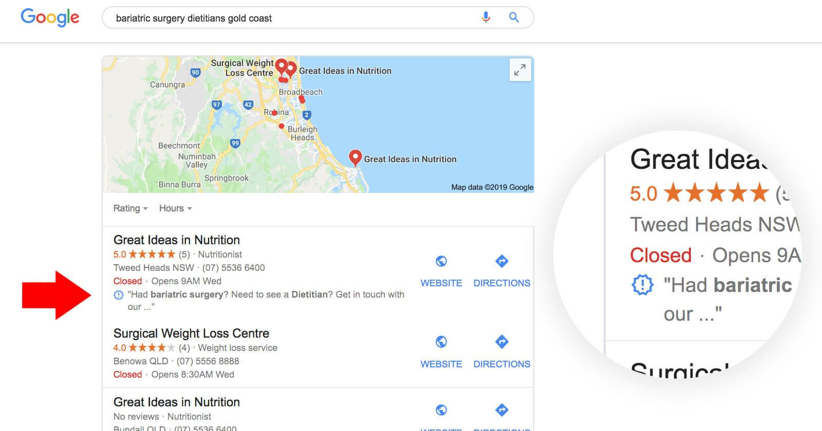 What Do The Symbols Mean In Google S Map Pack And Local Finder