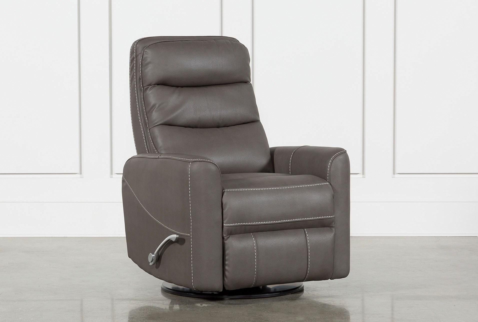 Hercules Grey Swivel Glider Recliner (With images