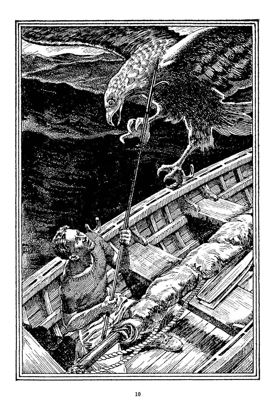 Lawrence Sterne Stevens, The Island of Captain Sparrow by S. Fowler Wright, Famous Fantastic Mysteries 46-04, P.10.