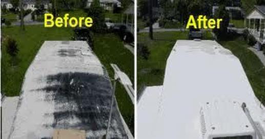 Roof Repair Traveltrailer Travel Trailer Rv Decks Porches Travel Trailers In 2020 Rv Roof Repair Travel Trailer Remodel Roof Repair