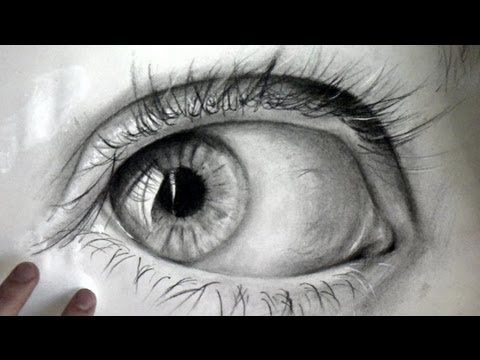 How to draw a realistic Eye: Time lapse - YouTube