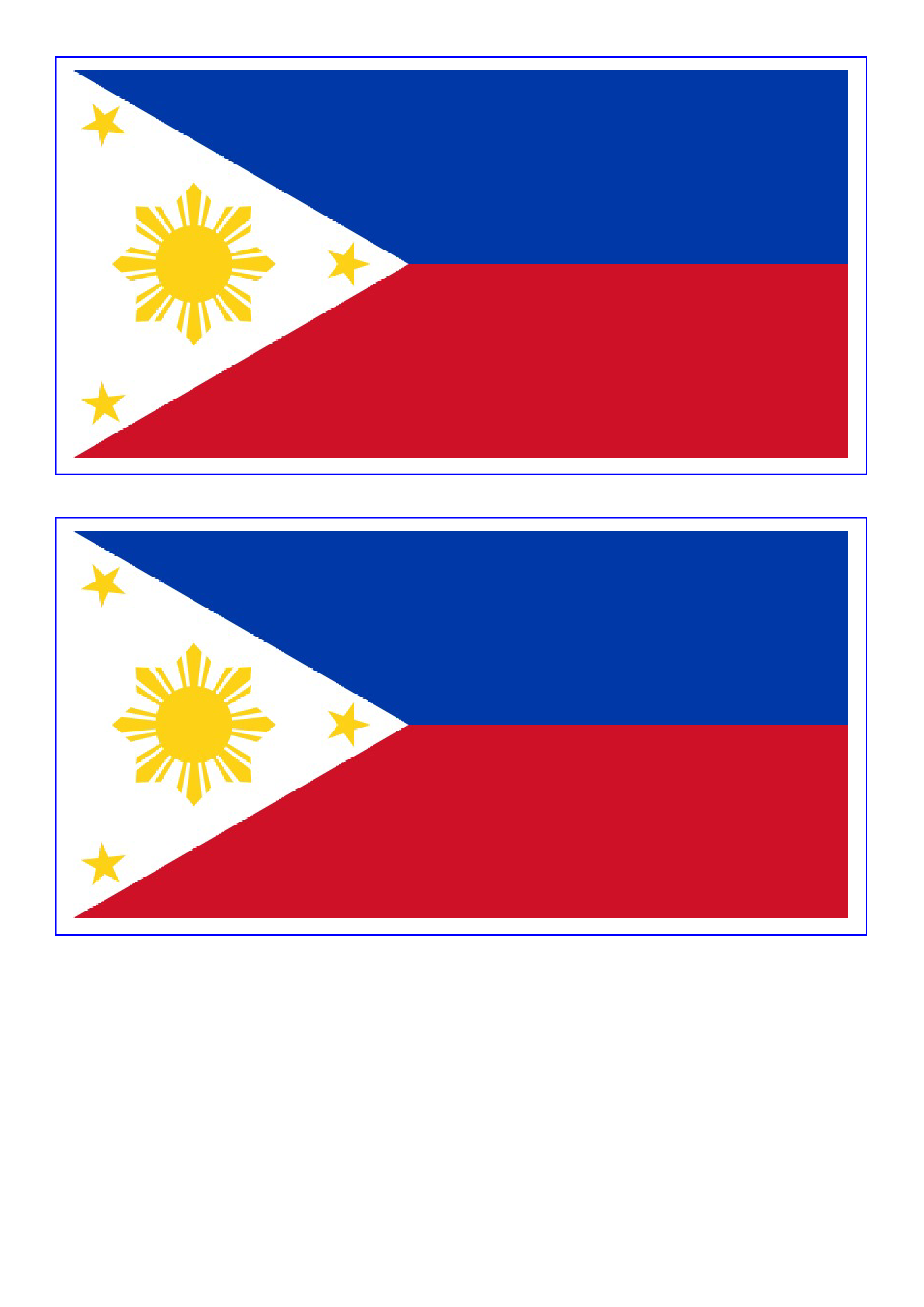 Download This Free Printable Philippines Template A4 Flag A5 Flag 8 And 21 Flags On One A4page Easy To Use Flag Template Flag Coloring Pages Philippine Flag