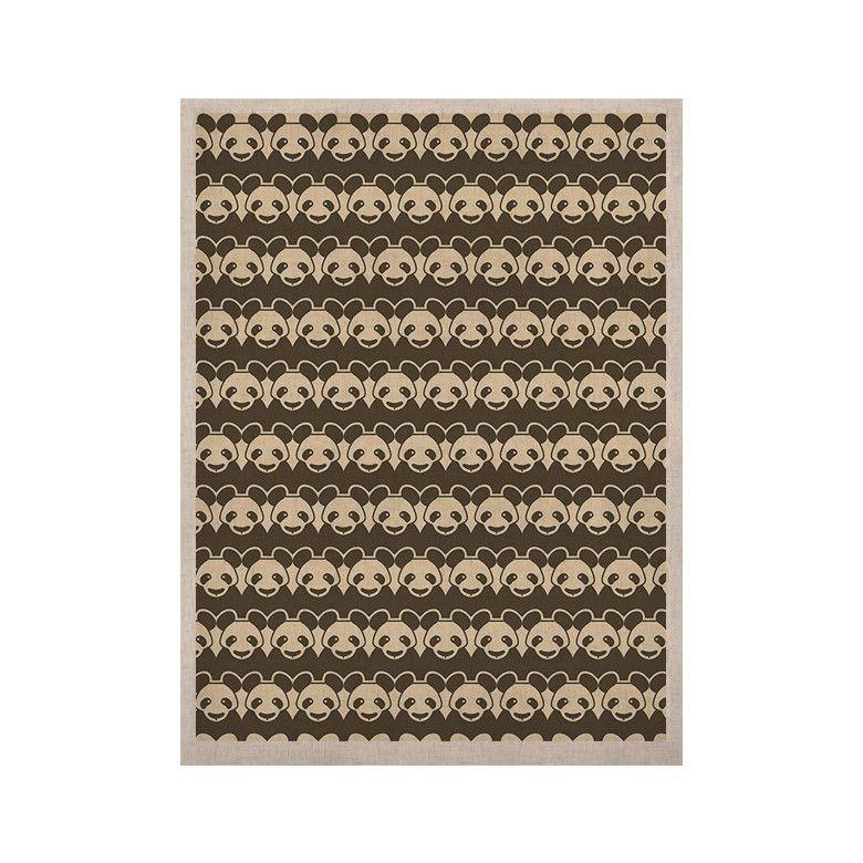 "Tobe Fonseca ""Panddern"" Panda Pattern KESS Naturals Canvas (Frame not Included)"