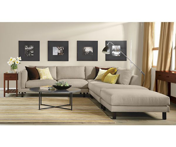 Room Board Holden 112x107 Three Piece Sectional With Left