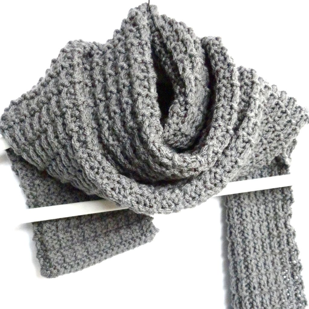 Easy Scarf Knitting Patterns For Men : Ridge Rib Mens Scarf -free pattern Knitting Projects Pinterest Sca...