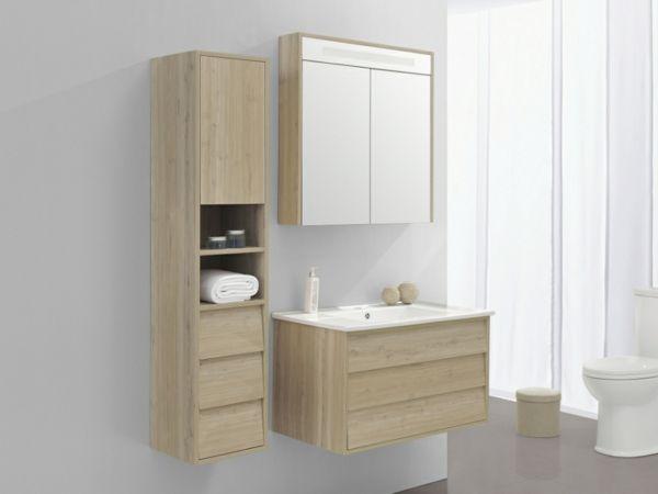 Le meuble colonne de salle de bain   Bains   Pinterest   Salle de ...