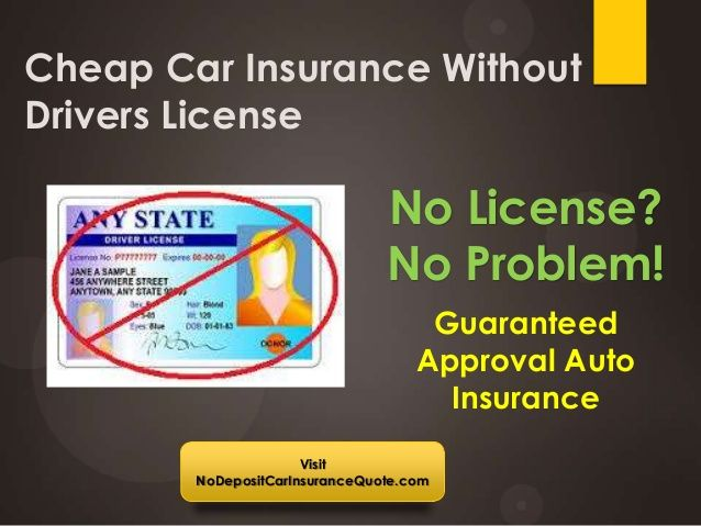 Get Cheap Car Insurance Without Drivers License With Full Coverage