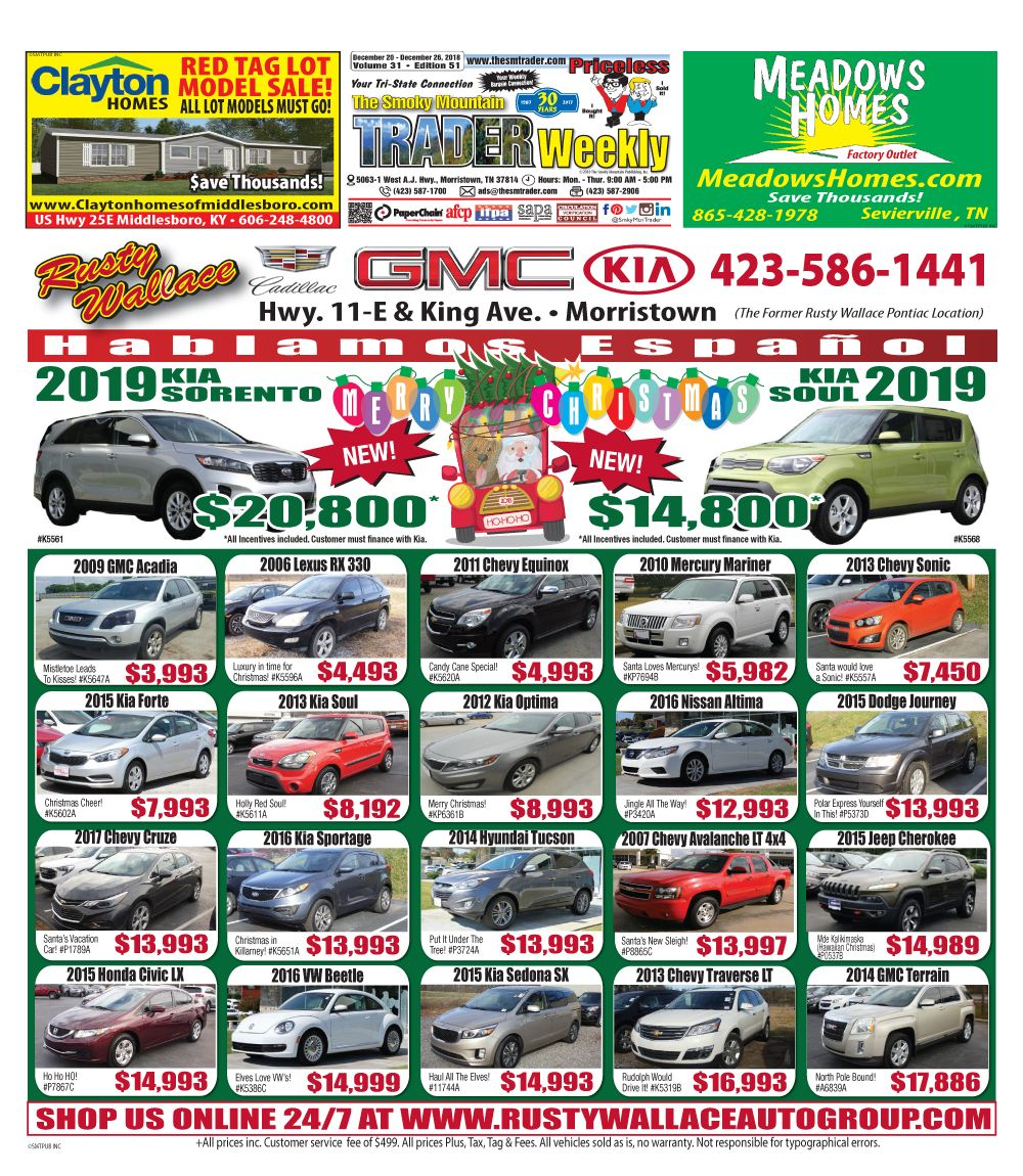 Read The Deceomber 20 2018 Issue Of The Smoky Mountain Trader