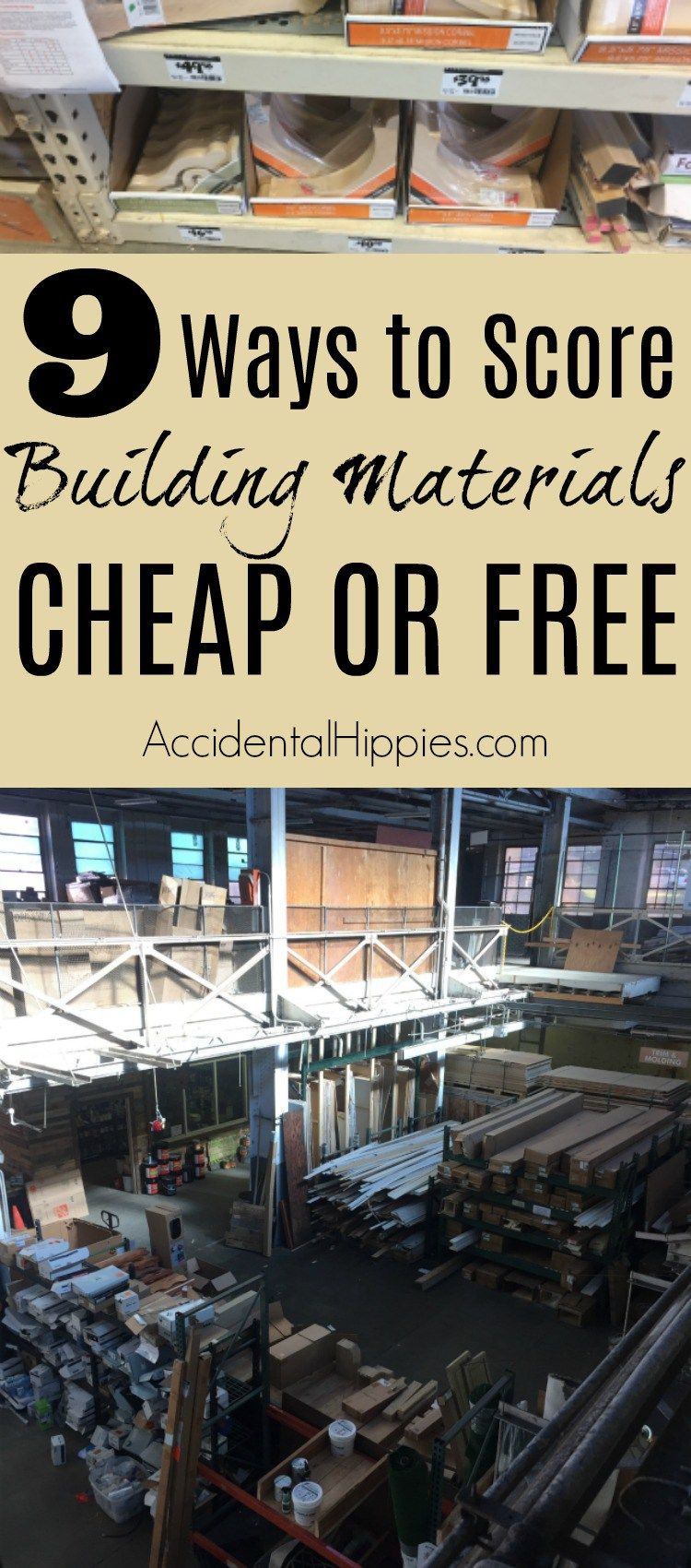 9 Ways To Get Building Materials Cheap Or Free Cheap Home Decor
