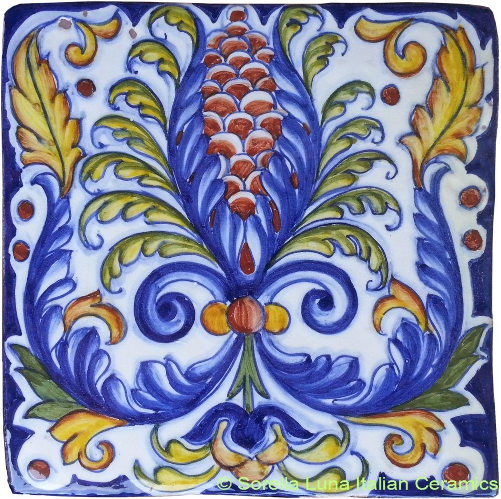 Hand painted italian ceramic tiles italian ceramics pinterest hand painted italian ceramic tiles dailygadgetfo Image collections