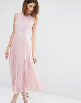 Warehouse robe de soiree rose