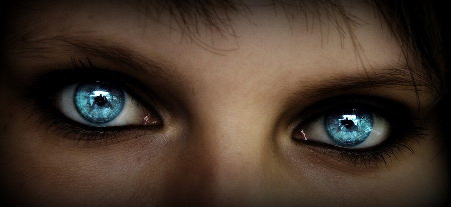 Ice blue eyes by Sakiama.deviantart.com | Got the Blues ... Human Ice Blue Eyes