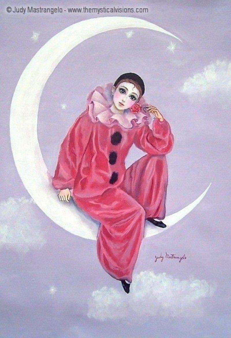 Pierrot columbine and harlequin on pinterest bangle - Dessin de pierrot ...