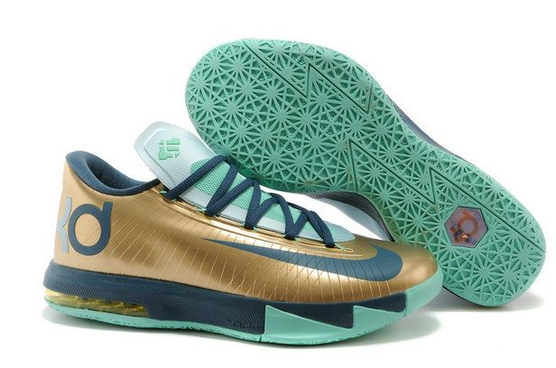 Free Shipping Only 69$ KD 6 54 Points Gold Navy Teal Chroma Pure Platinum
