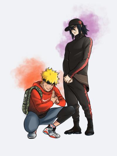 Nike Naruto Tumblr Naruto Uzumaki Art Anime Gangster Naruto And Sasuke Wallpaper