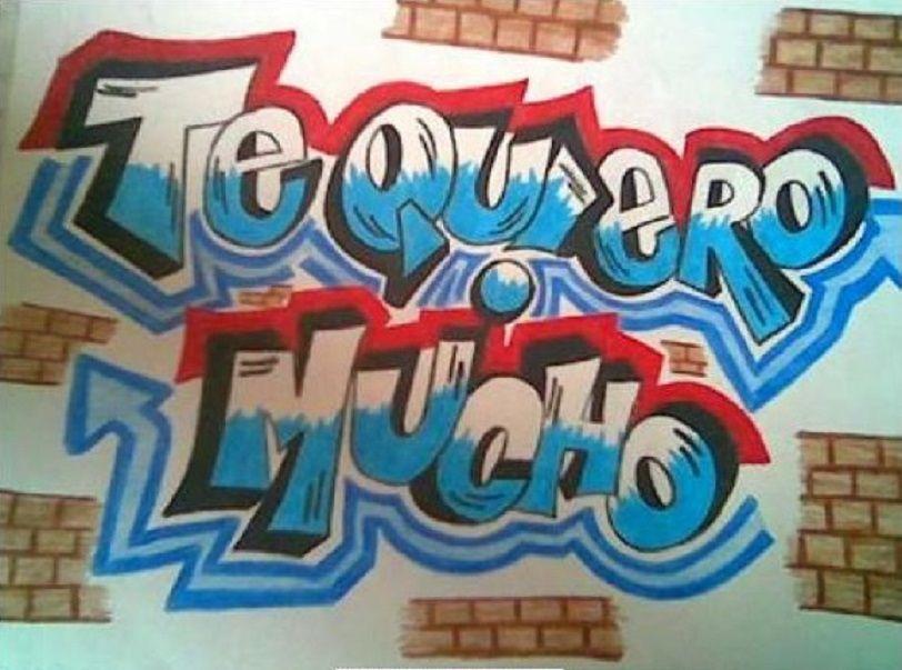 Graffitis De Te Quiero 7 Png Jpg 812 603 Graffitis De Amor Te Amo Dibujo Disenos De Graffiti