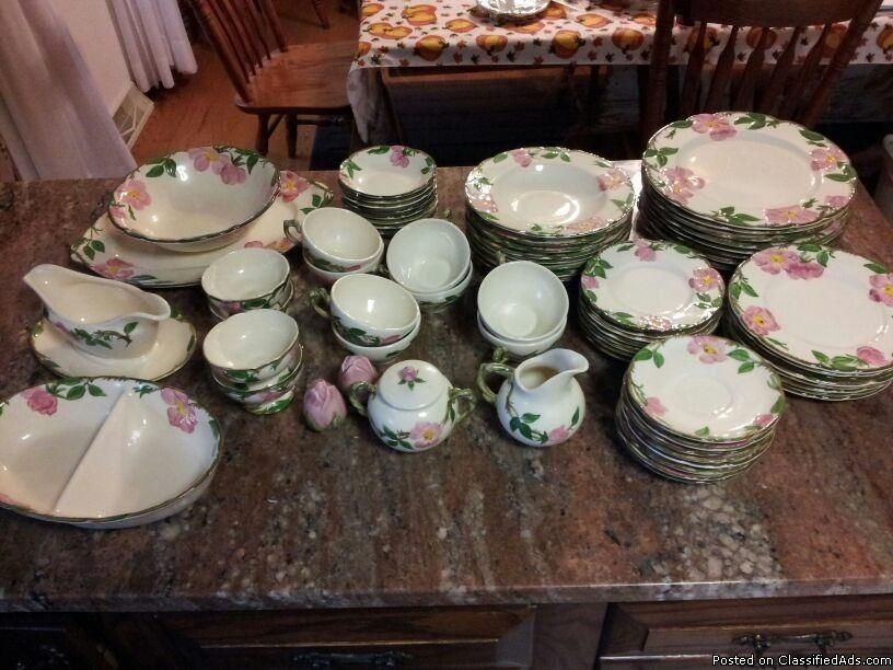 "Franciscan Ware- ""1947-1953'-Desert Rose-Serving for 8- Hand-Painted-68 pcs. - Classified Ad"
