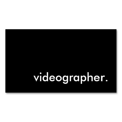 Videographer business card craft artist business cards videographer business cards colourmoves