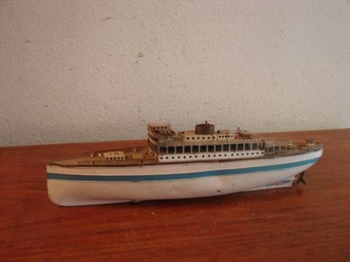 Gebr Fleischmann wind-up toy ocean liner. photo via ebay.com ...