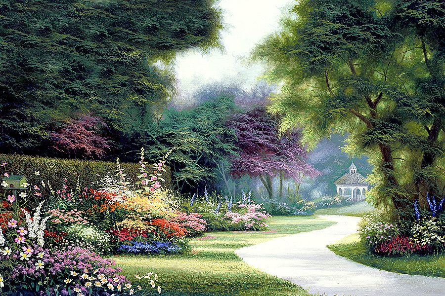 что, пейзаж в картинках садов заранее