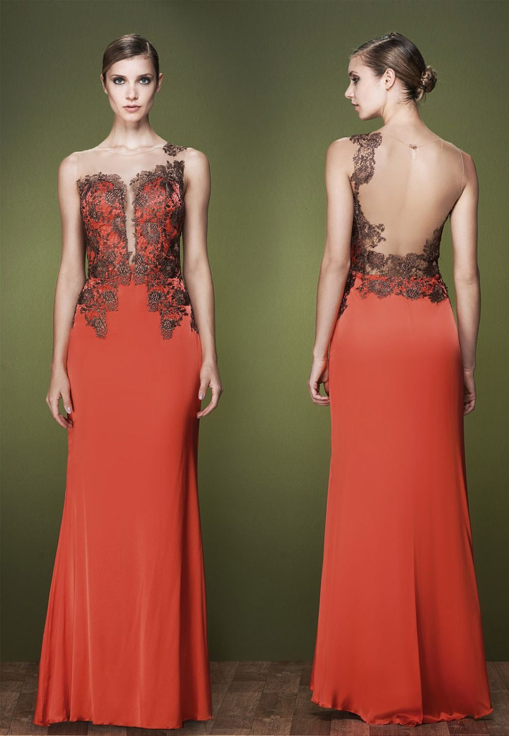 Find more evening dresses information about orange red long evening
