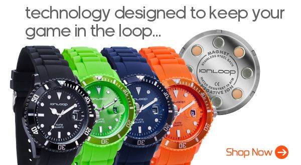 The only sport watch that offers Magnets + Negative Ions. Ion<Time watches are stylish and colorful, available in Black, Navy, Apple Green, Orange and White coming soon.