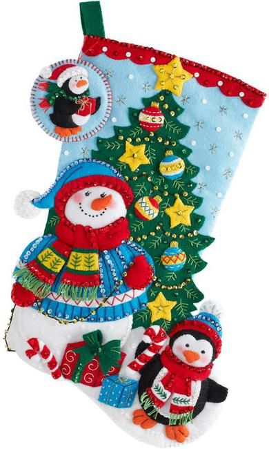 Felt Applique Christmas Stockings and Ornaments (Page 2) - 123Stitch