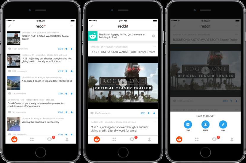 Reddit lanza aplicación oficial para iOS (solo iPhone