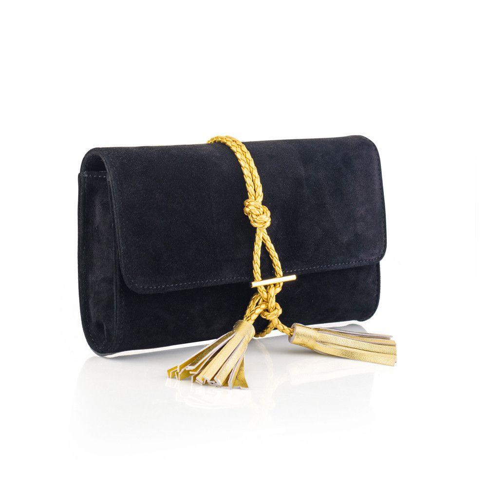 Marni Suede + Braided Leather Clutch - Black  8a5acef246984