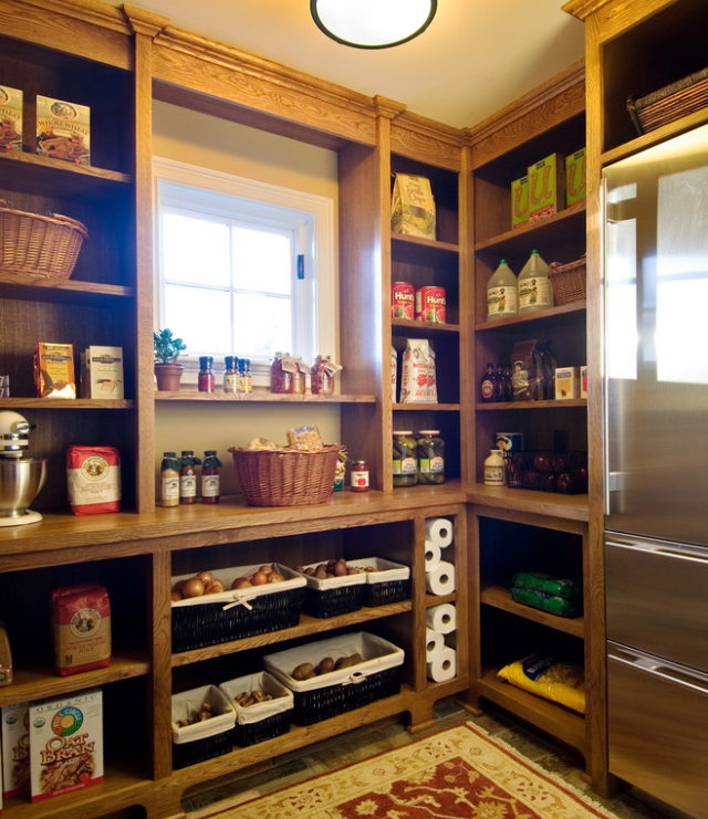 Walk In Pantry Ideas With Fridge