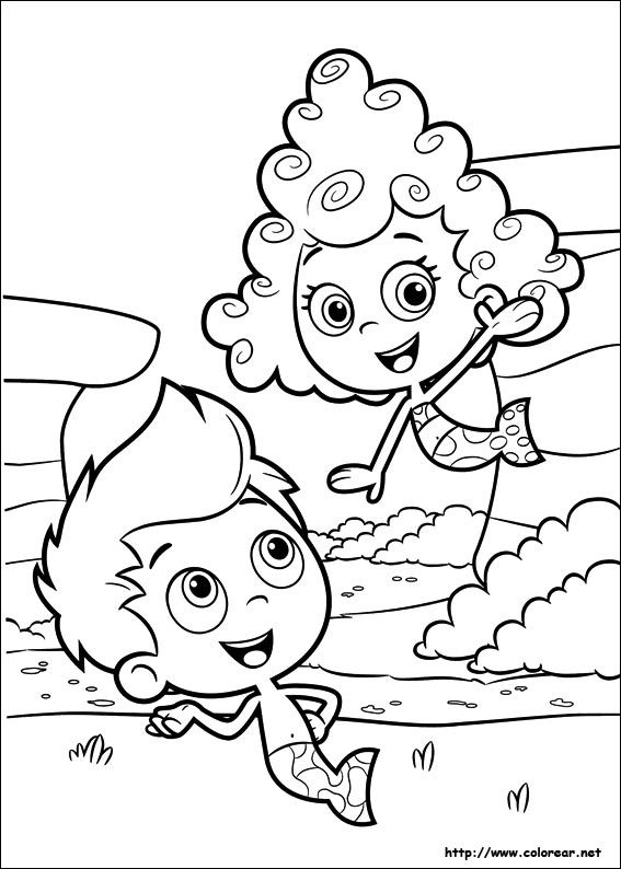 dibujo para imprimir bubble guppiescartoon characterscoloring pagesbubbleschildren