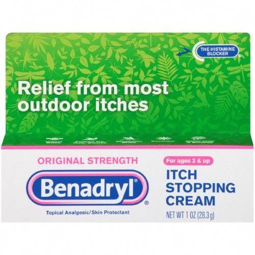 Benadryl Itch Stopping Cream Original Strength 1 Oz ...