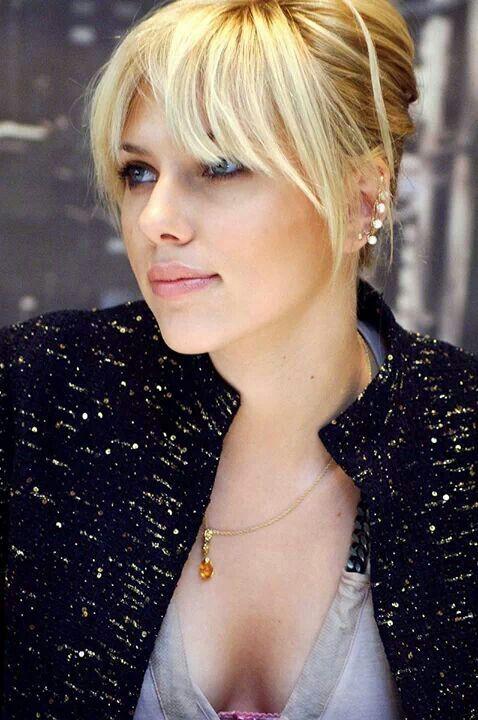Scarlett Johansson Scarlet Włosy Fryzura Fryzury