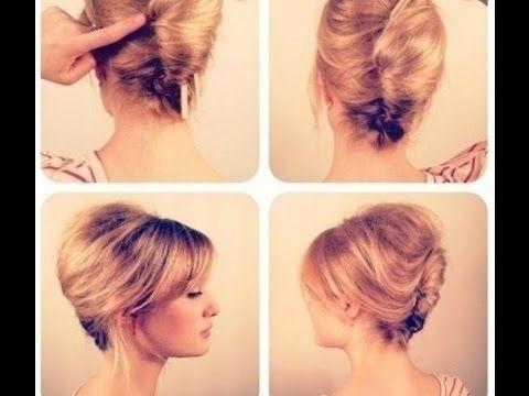 peinados elegantes para cabello corto peinados recogidos pelo corto