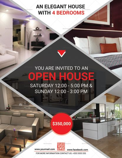 Open House Flyer Template Design Flyer Templates Pinterest - open house templates