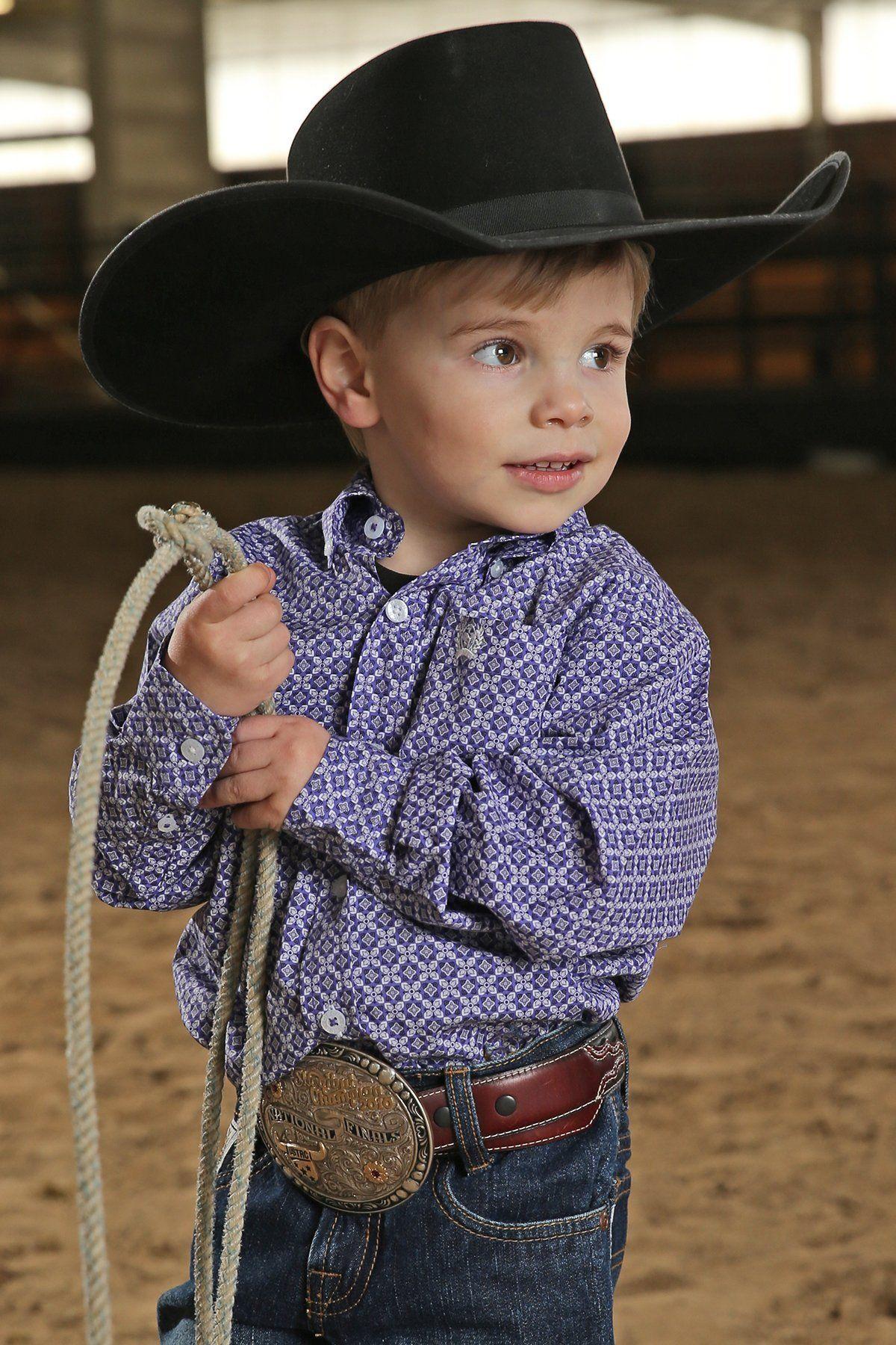 181fb88c994 Cinch Infant/Toddler Boys Purple Geo Print Western Shirt in 2019 ...