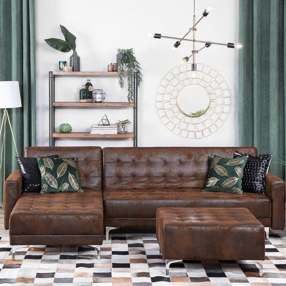 Aberdeen In 2020 Leather Corner Sofa Corner Sofa With Ottoman Leather Corner Sofa Living Room