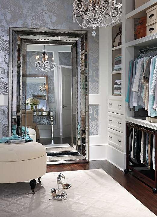 Walk In Closet With A Gigantic Mirror U0026 A Gorgeous Chandelier, Glam Up My  Closet Please!! @ashlieils