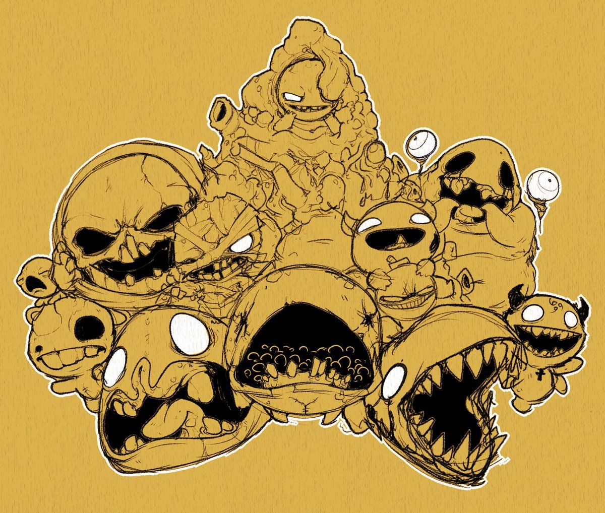 The Binding Of Isaac, Character Design, Isaac