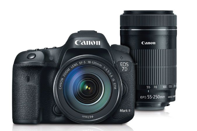7d Mark Ii Ef S 18 135mm Is Stm With Ef S 55 250mm Is Stm Lens Kit Refurbished Canon Online Store Digital Slr Camera Canon Eos Digital Slr