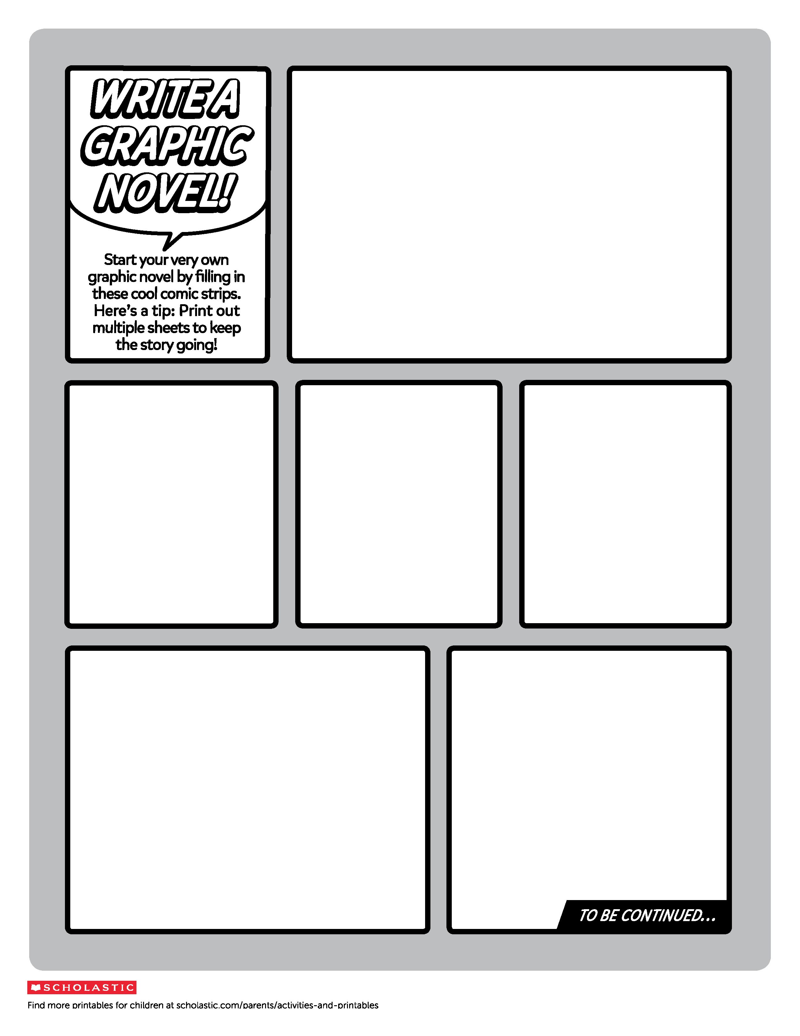 Predownload: Your Little Designer Can Write And Illustrate A Real Graphic Novel With This Fun Printable Graphic Novel Lesson Graphic Novel Layout Graphic Novel [ 3300 x 2550 Pixel ]