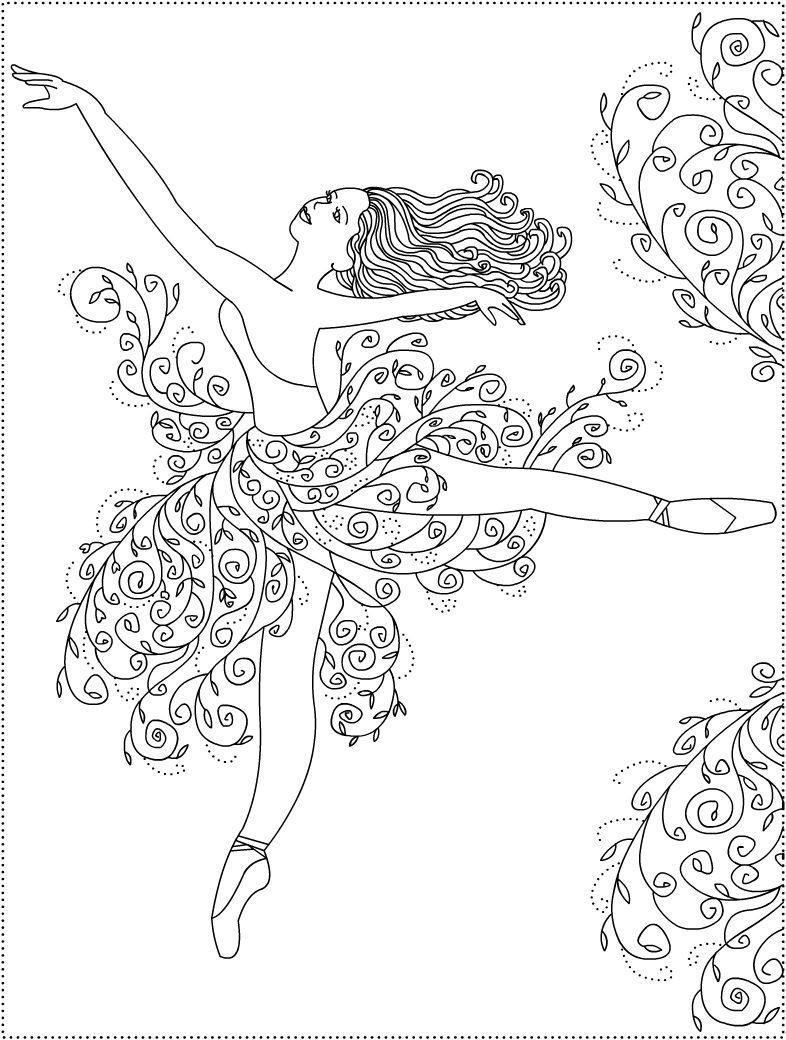Nicole\'s Free Coloring Pages: Ballerina Primavera * Ballet coloring ...
